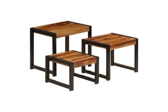 Nesting Tables 3 pcs Solid Sheesham Wood