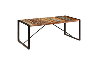 Dining Table 200x100x75 cm Solid Reclaimed Wood