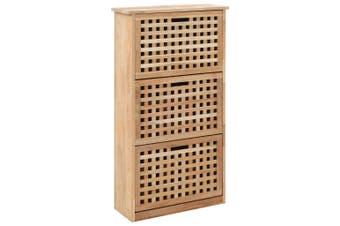 Shoe Storage Cabinet 55x20x104 cm Solid Walnut Wood