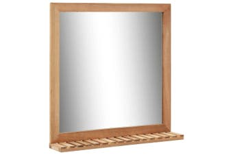 Bathroom Mirror 60x12x62 cm  Solid Walnut Wood