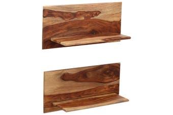 Wall Shelves 2 pcs 58x26x20 cm Solid Sheesham Wood
