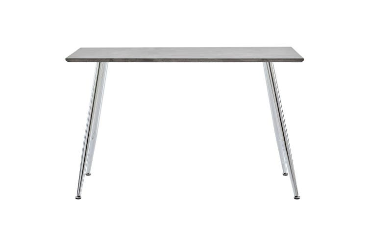 Dining Table Concrete and Silver 120x60x74 cm MDF