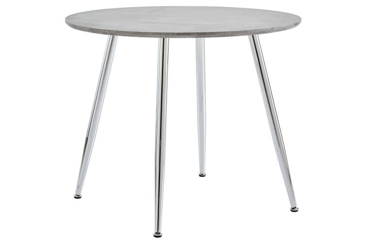 Dining Table Concrete and Silver 90x73.5 cm MDF