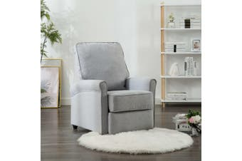 TV Recliner Chair Light Grey Fabric