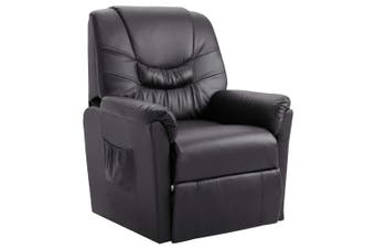 Reclining Chair Grey Faux Leather