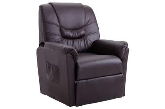 Reclining Chair Brown Faux Leather