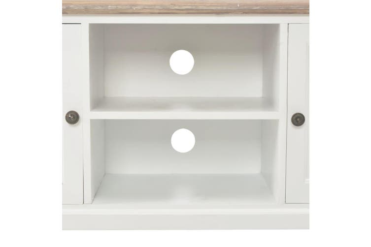 TV Cabinet White 120x30x40 cm Wood