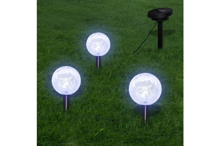 Garden Lights 6 pcs LED with Spike Anchors & Solar Panels