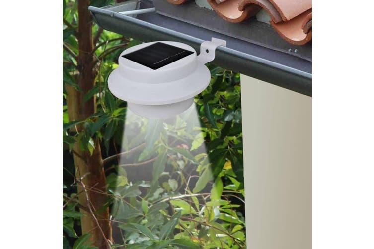 Outdoor Solar Fence Lamps 12 pcs LED White