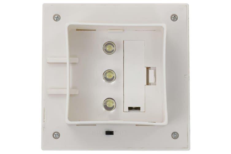 Outdoor Solar Lamps 12 pcs LED Square 12 cm White