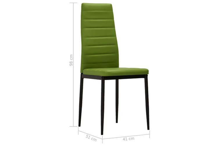 Dining Chairs 6 Pcs Lime Green Faux Leather Kogan Com