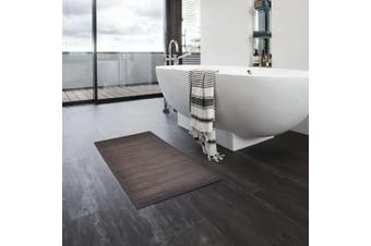 Bamboo Bath Mats 4 pcs 40x50 cm Dark Brown