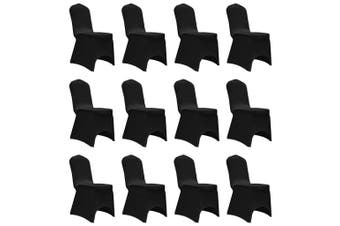 Chair Cover Stretch Black 12 pcs