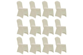 Chair Cover Stretch Cream 12 pcs