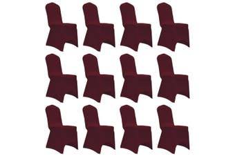 Chair Cover Stretch Burgundy 12 pcs