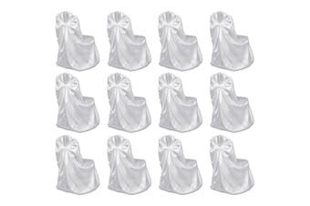 Chair Cover for Wedding Banquet 12 pcs White