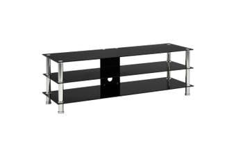 TV Stand Black 120x40x40 cm Tempered Glass