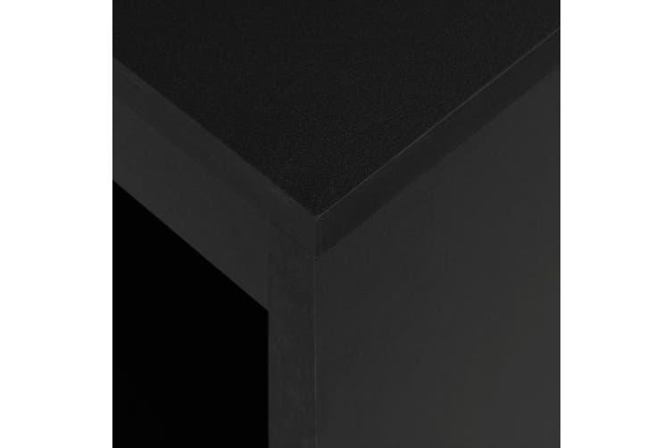 Bar Table with Shelf Black 110x50x103 cm