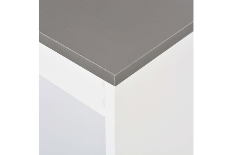 Bar Table with Shelf White 110x50x103 cm