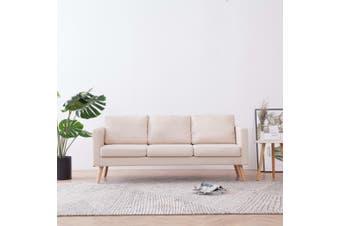 3-Seater Sofa Fabric Cream