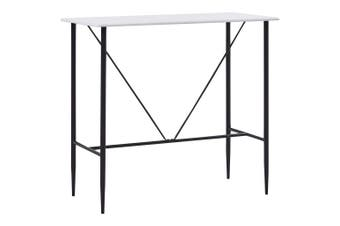 Bar Table White 120x60x110 cm MDF