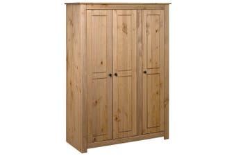 3-Door Wardrobe 118x50x171.5 cm Pine Panama Range