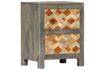 Bedside Cabinet Grey 40x30x50 cm Solid Mango Wood