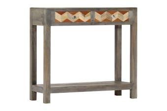 Console Table Grey 86x30x76 cm Solid Mango Wood