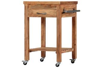 Kitchen Trolley 58x58x89 cm Solid Acacia Wood