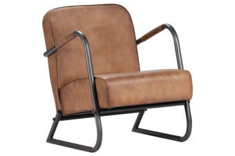Relax Armchair Light Brown Real Leather