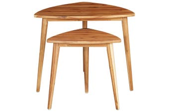 Nesting Tables 2 pcs Solid Acacia Wood