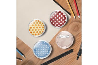 Button Badges Kit with Pins 100 Sets Acrylic 37 mm