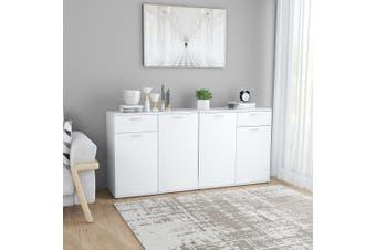 Sideboard White 160x36x75 cm Chipboard