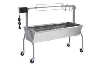 Roasting Barbecue with Spit and Electric Engine