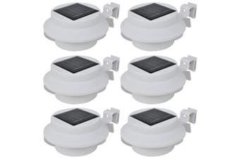 Outdoor Solar Lamp Set 6 pcs Fence Light Gutter Light White
