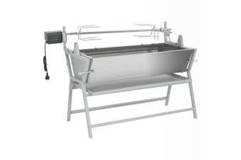 BBQ Rotisserie Spit Iron and Stainless Steel