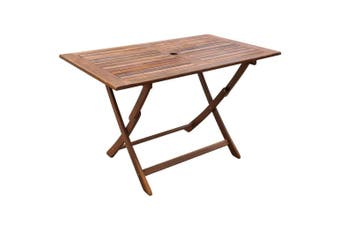 Garden Table 120x70x75 cm Solid Acacia Wood