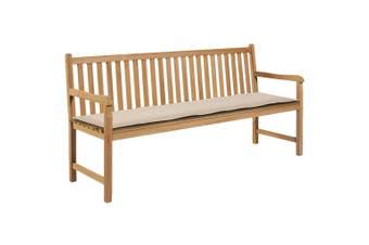Garden Bench Cushion Cream 180x50x3 cm