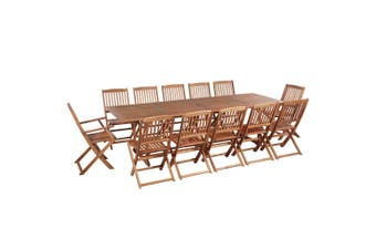 13 Piece Outdoor Dining Set Solid Acacia Wood