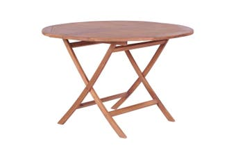 Folding Garden Table 120x75 cm Solid Teak Wood