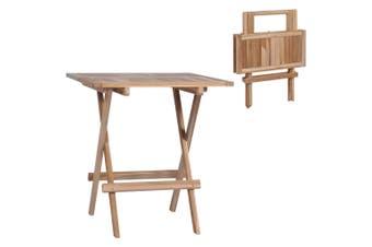 Folding Bistro Table 60x60x65 cm Solid Teak Wood