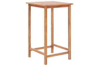 Garden Bar Table 65x65x110 cm Solid Teak Wood