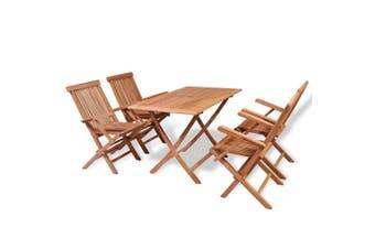 5 Piece Garden Dining Set Solid Teak Wood