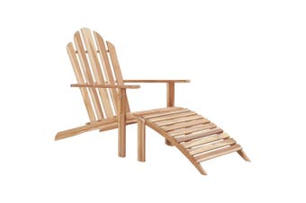 Adirondack Chair with Footrest Teak