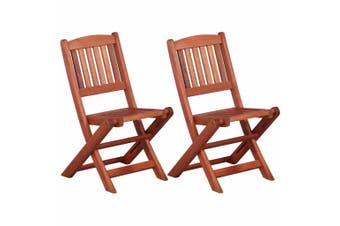 Children's Dining Chairs 2 pcs Solid Eucalyptus Wood