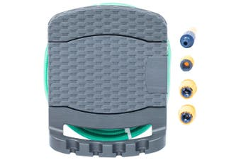 Wall Mounted Hose Reel with Hose Plastic Anthracite