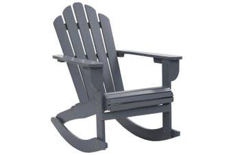 Garden Rocking Chair Wood Grey