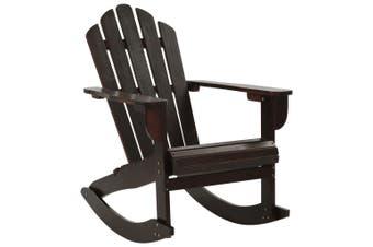 Garden Rocking Chair Wood Brown