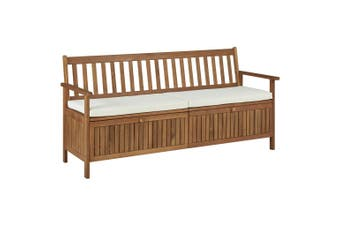 Storage Bench with Cushion 170 cm Solid Acacia Wood