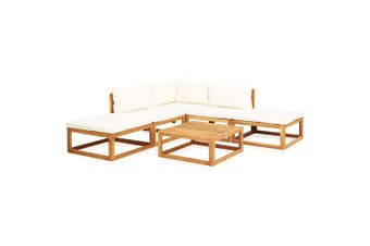 6 Piece Garden Lounge Set with Cushions Solid Acacia Wood